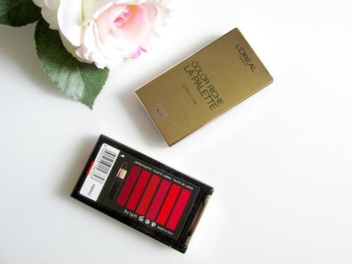 Paleta 6 rujuri Loreal Color Riche Lip Palette Varianta Red