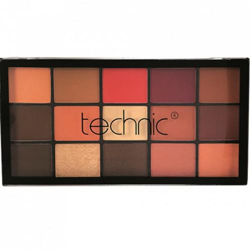 Paleta farduri de pleoape Technic Sierra Sunset , 15 culori