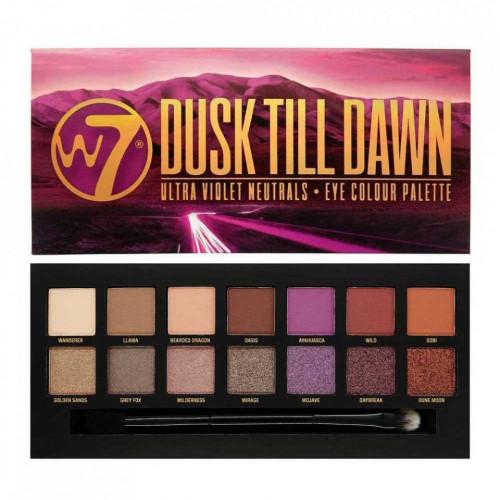 Paleta farduri de pleoape W7 Dusk Till Dawn Ultra Violet Neutrals, 14 culori