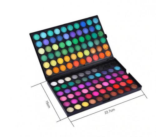 Trusa machiaj paleta farduri ochi 120 culori Jollie