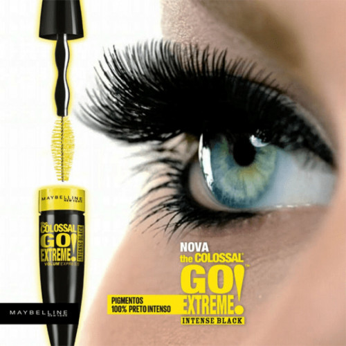 Mascara gene Maybelline The Colossal Go Extreme Leather Black, Negru