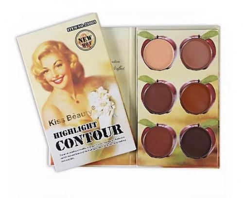 Paleta Contur Kiss Beauty Highlight Contour #3