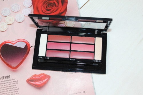 Paleta rujuri de buze Maybelline Lip Contour Palette 02 Blushed Bombshell
