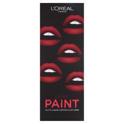 Ruj de buze + Creion contur L'Oreal Lip Kit Paint 205 Apocalypse Red
