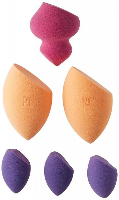 Set 6 bureti cosmetici pentru aplicarea machiajului Real Techniques