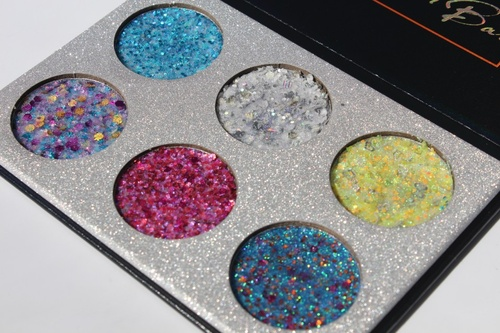Trusa machiaj 6 glitter ochi si fata Pressed Glitter Bar