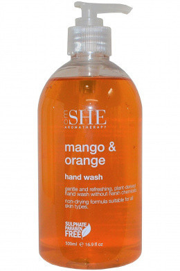 Sapun lichid de maini Om She Aromatherapy Mango & Orange Hand Wash, 500 ml
