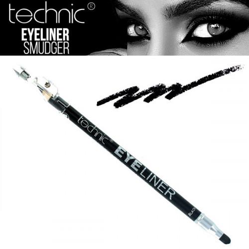 Creion de ochi dermatograf Technic cu 2 capete, Negru
