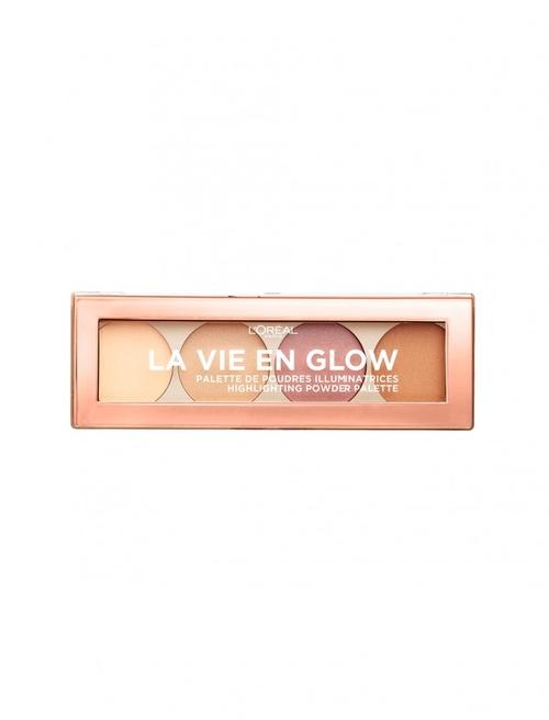 Paleta pudre iluminatoare Highlighting Powder palette Loreal La Vie En Glow 01 Warm Glow