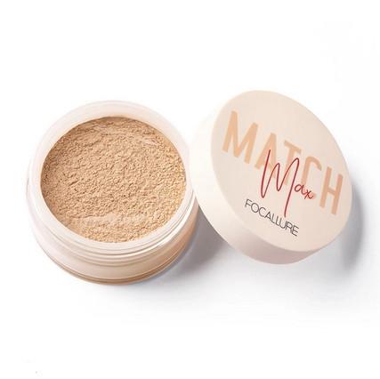 Pudra translucida de fixare machiaj Focallure Match Max 03 Natural Beige
