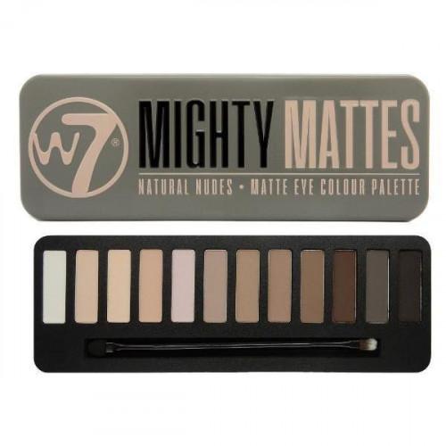 Trusa fard de ochi W7 Mattes 12 culori mate