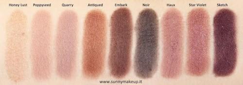 Trusa machiaj 9 culori fard de ochi MAC Eye Shadow x 9 Burgundy Times Nine