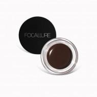 Gel sprancene Focallure Brows Cream Nuanta 02 Chocolate, Pensula inclusa