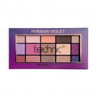 Paleta farduri de pleoape Technic Persian Violet, 15 culori