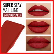 Ruj de buze rezistent la transfer Maybelline Superstay Matte Ink 117 Ground-Breaker