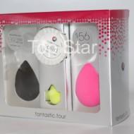 Set 3 buretei cosmetici + Cleanser Solid Beauty Blender