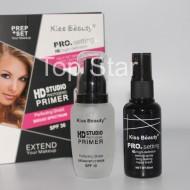 Set complet baza de machiaj + spray fixare machiaj Kiss Beauty Pro HD