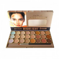 Paleta Contur Kiss Beauty Bronze Highlight Cream Palette, 2