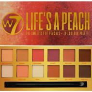 Paleta farduri de pleoape mate W7 Life`s A Peach, 14 culori