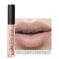 Ruj de buze lichid mat Focallure Ultra Chic Lips, Nuanta 45 Light Chestnut