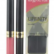 Ruj de buze rezistent la transfer Max Factor Lipfinity 003 Mellow Rose