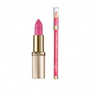 Set Ruj + Creion Loreal Color Riche, Nuanta 285 Pink Fever