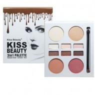 Paleta Fard 3 in 1 Kiss Beauty, 2