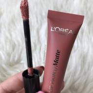 Ruj de buze + Creion contur L'Oreal Lip Kit Paint 209 Nude on Fleek