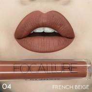 Ruj de buze lichid mat Focallure Ultra Chic Lips, Nuanta 04 French Beige