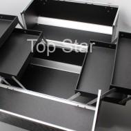 Geanta pentru depozitarea cosmeticelor din aluminiu, model mare