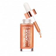 Iluminator lichid Loreal Glow Mon Amour HIghlighting Drops 02 Loving Peach
