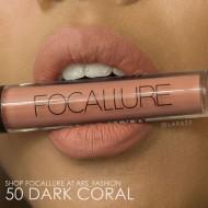 Ruj de buze lichid mat Focallure Ultra Chic Lips, Nuanta 50 Dark Coral