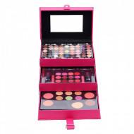 Trusa machiaj Magic Color Make up Kit, 85 culori, Pink, Geanta inclusa