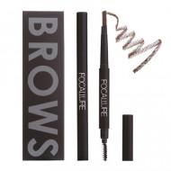 Creion sprancene Focallure Auto Brows Pen, 02 Brown