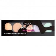Paleta corectoare Loreal, Total Cover, Full Coverage, 5 culori