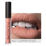 Ruj de buze lichid mat Focallure Ultra Chic Lips, Nuanta 47 Copper Rose