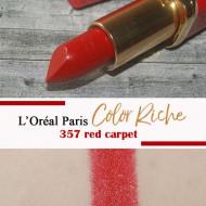 Ruj de buze Loreal Color Riche Berlinale Red Carpet 357 Editie limitata
