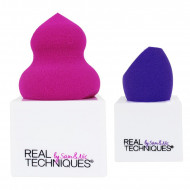 Set 2 bureti machiaj + suport Real Techniques Miracle Sponges