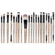 Set 20 pensule machiaj Makeup, Nude, Husa depozitare inclusa