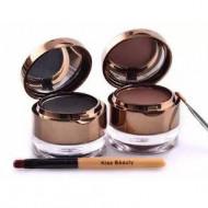 Set tus eyeliner gel + fard sprancene Kiss Beauty eyebrow&eyeliner gel