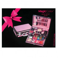 Trusa Machiaj + Geanta depozitare cosmetice Magic Color Makeup Kit Pink Secret
