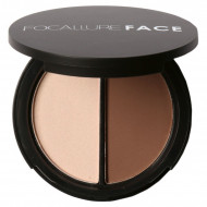 Paleta pudra contur + iluminator Focallure Duo Highlighter & Bronzer
