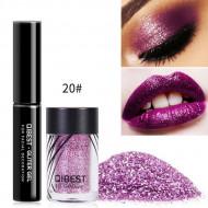 Glitter ochi + adeziv Glitter Gel Eyeshadow 20 Mauve Pearl