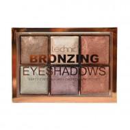Paleta 6 farduri de ochi Technic Colour Max Bronze