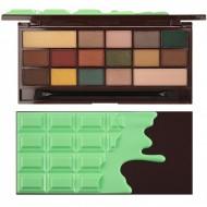 Paleta de farduri Makeup Revolution I Heart Makeup Palette Chocolate Mint