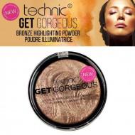 Pudra iluminatoare bronzanta Technic Get Gorgeous Bronze Highlighting Powder