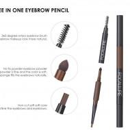 Creion sprancene + fard sprancene Focallure, 01 Gray Brown