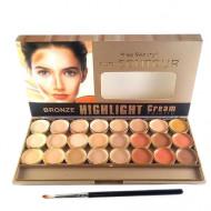 Paleta Contur, Kiss Beauty, Bronze Highlight Cream Palette, 1