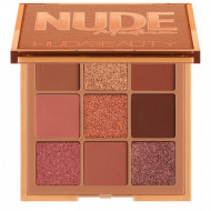 Paleta farduri de pleoape Huda Beauty Nude Medium, 9 culori
