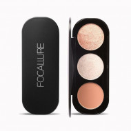 Paleta pudre iluminatoare si bronzer, Focallure Blush & Highlighter 02